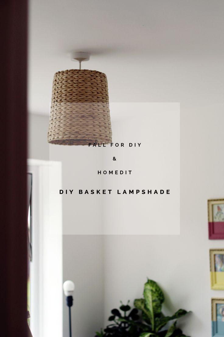 Fall For DIY and Homedit Basket Lampshade tutorial