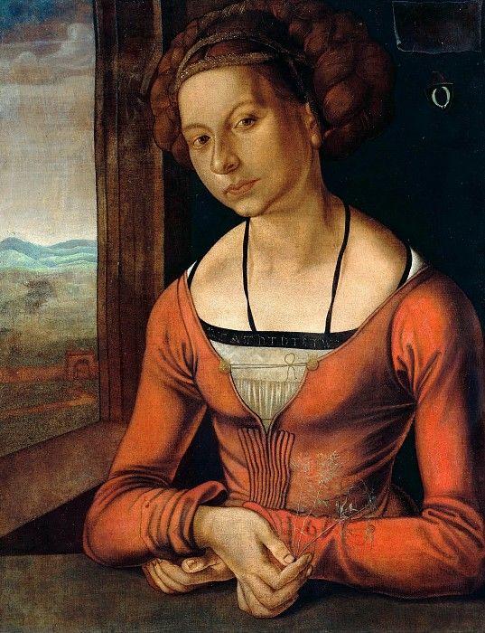 Портрет женщины с заплетёнными волосами,1497. Альбрехт Дюрер.