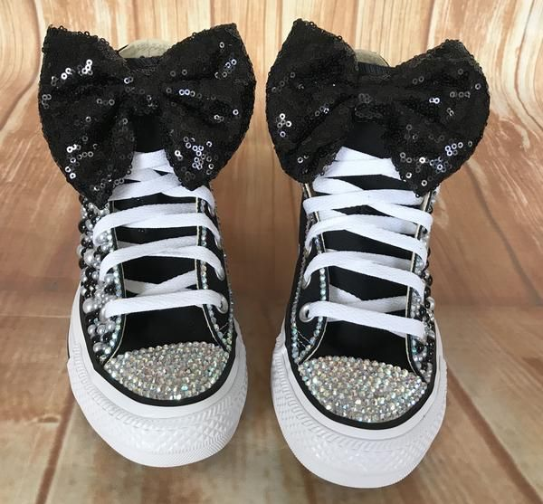 Girls glitter shoes, Bedazzled shoes