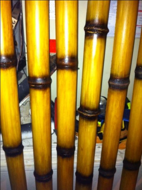 "Faux* Bamboo Finish on PVC Pipe #pvc #pipe #faux #bamboo - For best results see *comment by user ""bwente""."