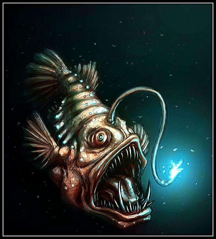 Angler fish deviantart inkterest pinterest angler for Angler fish light