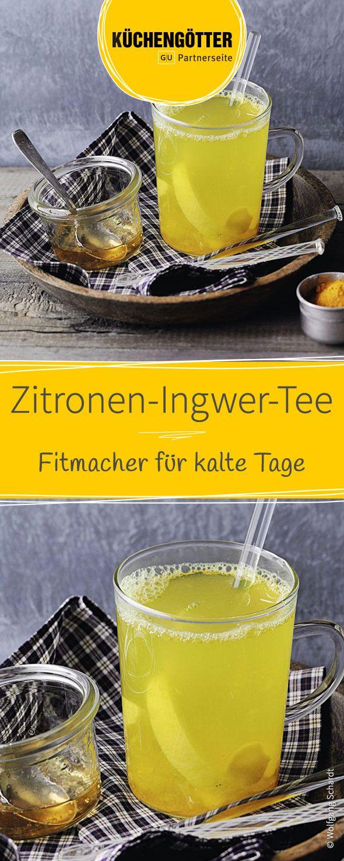 Fruchtig und wärmend. Der leckere selbstgemachte Zitronen-Ingwer-Tee stärkt das Immunsystem im wärmt euch an kalten Wintertagen von Innen