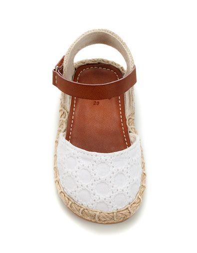 jute and crochet sandal - Shoes - Baby girl (3-36 months) - Kids - ZARA