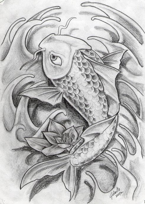Ms de 25 ideas increbles sobre Tatuaje pez koi en Pinterest