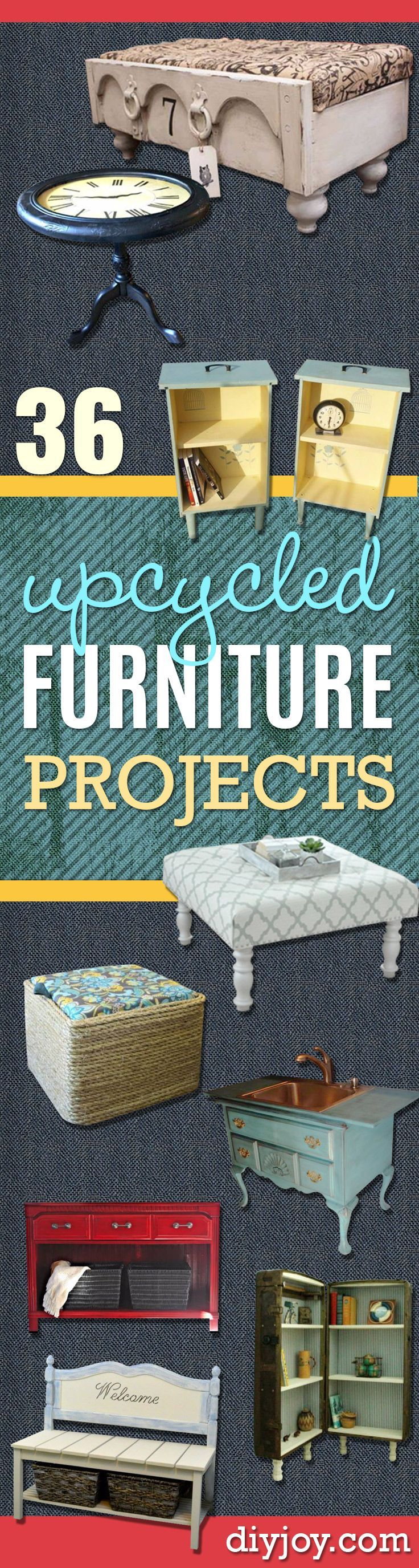 Upcycled Furniture Projects - Repurposed Home Decor and Furniture You Can Make…