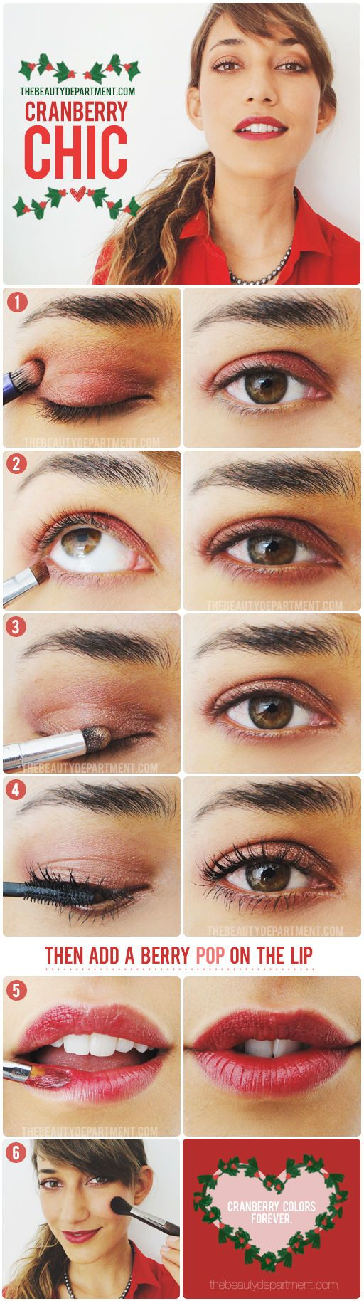 DIY holiday makeup inspiration for your family dinner!