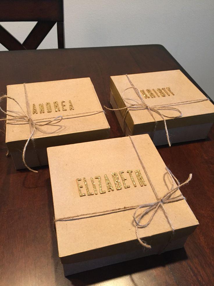 DIY bridesmaid proposal boxes - simple and sweet