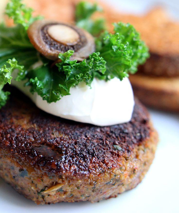 Oppskrift Vegansk Burger Valburger Valnøttburger Grønnkål Hjemmelaget Vegetarburger