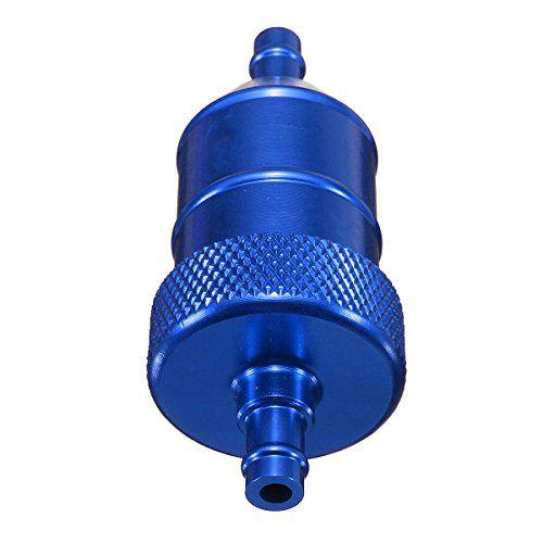 Filtre a essence – TOOGOO(R)Universelle 6MM 1/4″ moto moto scooter quad pit velo CNC filtre a carburant -Bleu