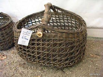 Canasta de sauce idea para hacer con papel de periódico reciclado - Willow basket.