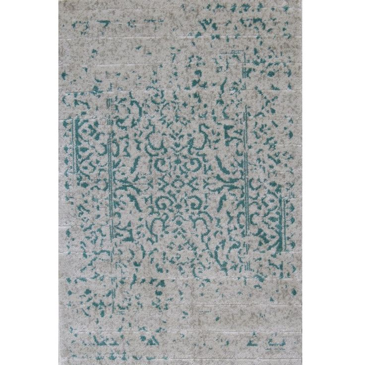This beautiful teal distressed chic rug creates a truly charming look that blends in perfectly with both classic and contemporary home decor styles. With a time-worn, faded effect over the traditional