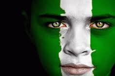 Nigeria flag face paint