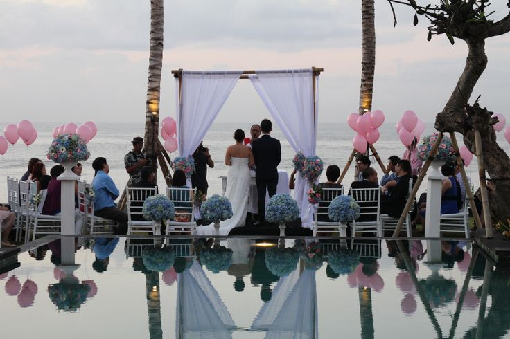 """What could be more romantic than saying """"I Do"""" at an idyllic hideaway on one of the world's most captivating and beautiful islands. At The Royal Purnama, we have the facilities, the expertise, and the enthusiasm to create an occasion that you will treasure for the rest of your lives, like we had last weekend from Clarissa and Wen Youw , a Singaporean couple with Simple sweet Sunrise wedding at The Royal Purnama.  Wedding Inquiries : +62 361 8493706"""