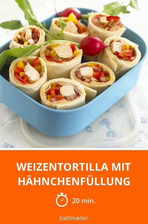 Weizentortilla mit Hähnchenfüllung - smarter - Zeit: 20 Min. | eatsmarter.de