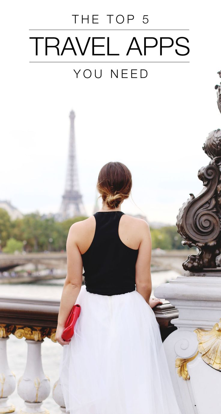 The top 5 travel apps you need before your next getaway. #travel #traveltips #paris