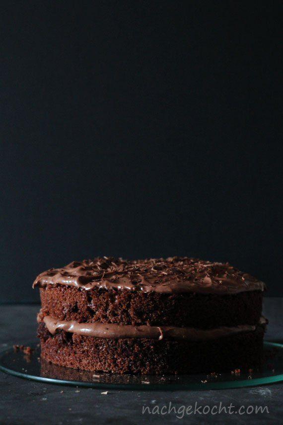 Schokoladenkuchen mit Schokoladencreme