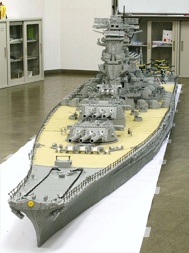 Lego Battleship. Jesus, look at the size of that thing!