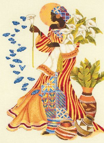Cross Stitch Kits - easy to follow. Perfect gift of learning/art for Kwanzaa