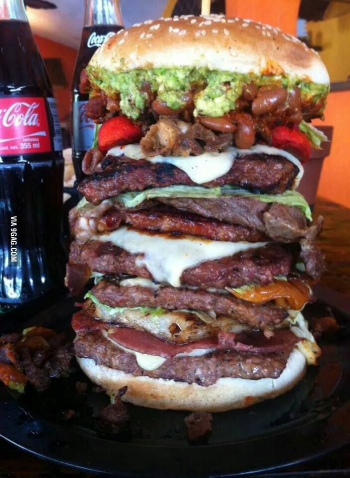 Indeed, you need to heavy breathe with this biggest burger I've ever see..
