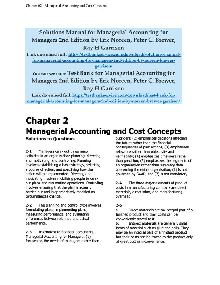 28 best solutionsmanual images on pinterest solutions manual for managerial accounting for managers 2nd edition by noreen brewer garrison fandeluxe Images