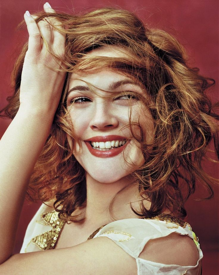 Drew Barrymore Love this hair color on her.