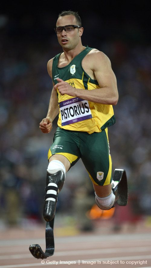 Oscar Pistorius from South Africa don't let anyone tell you that you can't do something!
