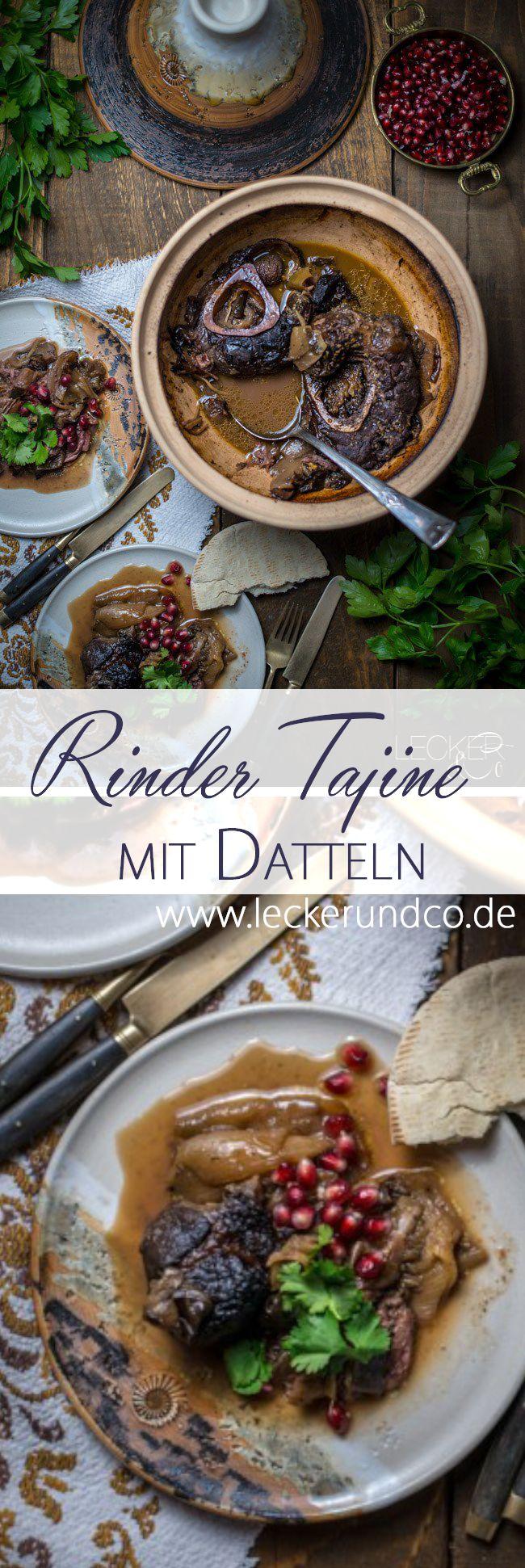 Rinder Tajine mit Auberginen und Datteln