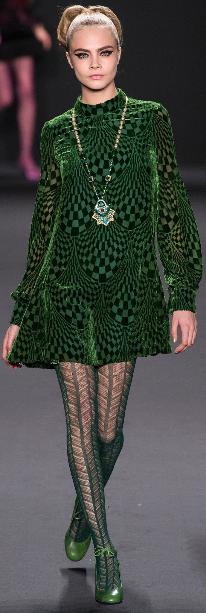 Oh this dress reminds me of something Twiggy would have worn in the 60's!  Love it! Anna Sui