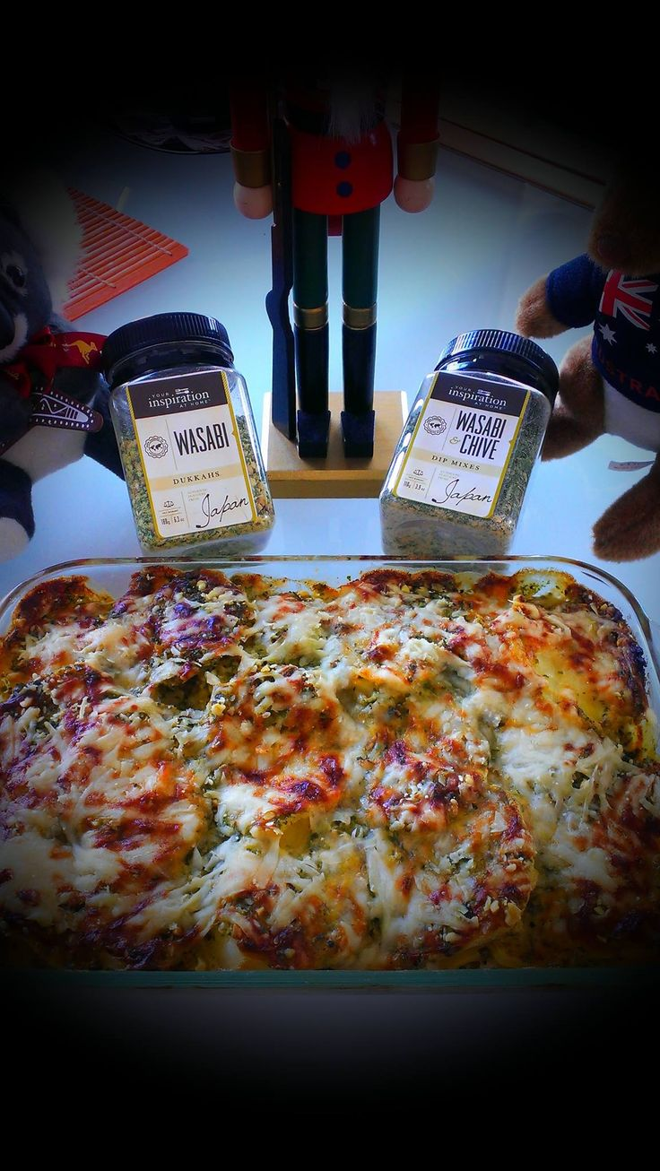 Recipe: YIAH Christmas Potato Bake 4-5 Medium sized Potatoes, sliced thin 1 large Cream 2 tbls Wasabi & Chive Dip Mix 2 Tbls Wasabi dukkah ½ cup Grated parmesan cheese Arrange the sliced potatoes in a baking tray, mix the wasabi dip mix with cream and pour over potatoes. Sprinkle with Dukkah and grated cheese. Bake in moderate oven till cooked and golden on top. Serve with your favourite protein & salads…YUM!!!