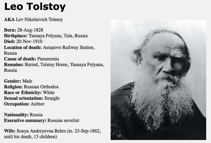 Leo Tolstoy - Great Author