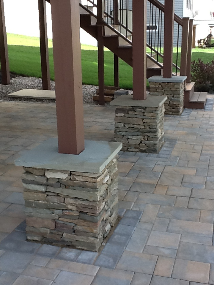 Superior Natural Stone Columns Installed By Bristolu0027s Garden Center (Victor, NY) |  Landscaping | Pinterest | Stone Columns, Natural Stones And Patios