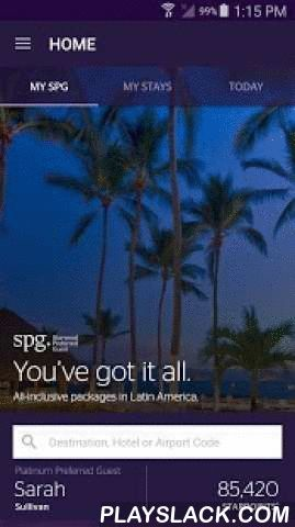 SPG: Starwood Hotels & Resorts Android App - playslack.com , The SPG App for Android — with you every step of the way.SPG® is always striving to provide new and better tools for you to take on the road. The SPG App for Android™ is loaded with features to make your travels simpler and smarter. • Discover nearly 1,100 hotels and resorts in over 100 countries across all 9 of our brands — including Westin®, Sheraton®, and W® Hotels — within 1 app. • Book anywhere, anytime, through touch or…