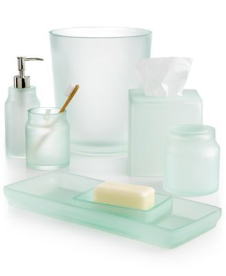 Martha Stewart Collection Sea Glass Frost Bath Accessories, Only at Macy's - Bathroom Accessories - Bed & Bath - Macy's