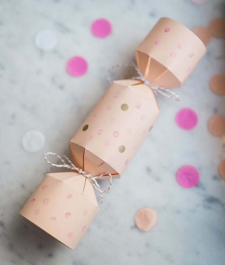 Confetti crackers instructions.