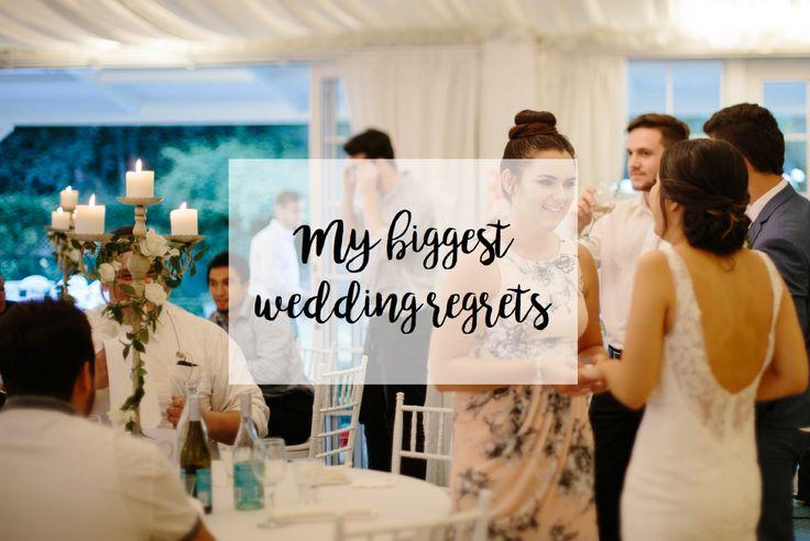 | My biggest wedding regrets |
