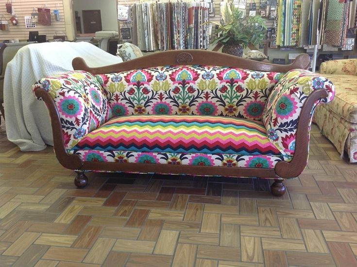 Reupholstered antique couch reupholstering ideas pinterest antiques antique couch and Reupholster loveseat