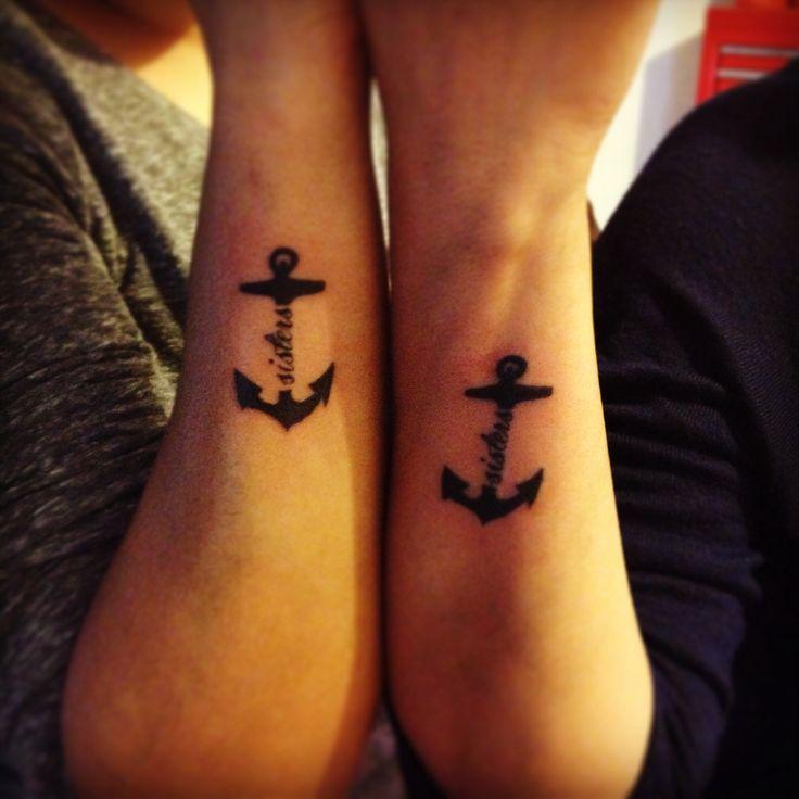 Sister Anchor Tattoos Symbolic Tattoos Pinterest