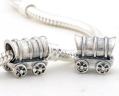 CLFJ058 925 Sterling Silver Boxcar Pandora Charms beads Jewelry on sale,for Cheap,wholesale