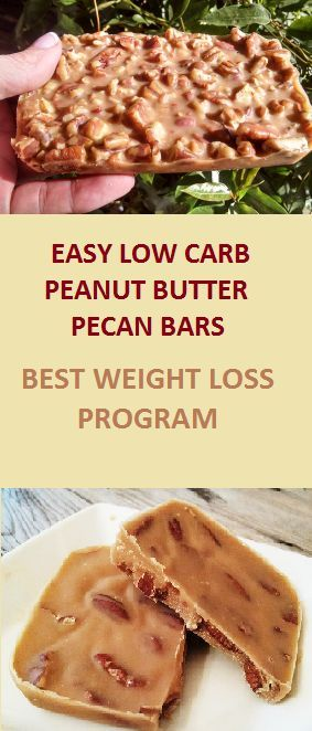 These low carb high fat Peanut Butter Pecan Bars are healthy, really easy to make, and melt-in-your-mouth delicious! They are made with real ingredients..
