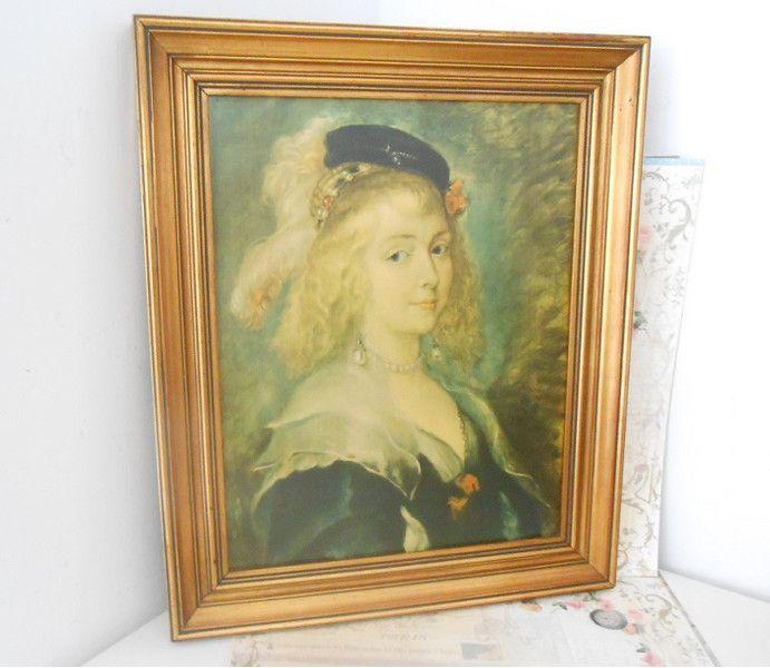 Vintage Bilder - Rubens ♥ Helene Fourment ♥ Vintage Bild - ein Designerstück von LaVivaVintage bei DaWanda