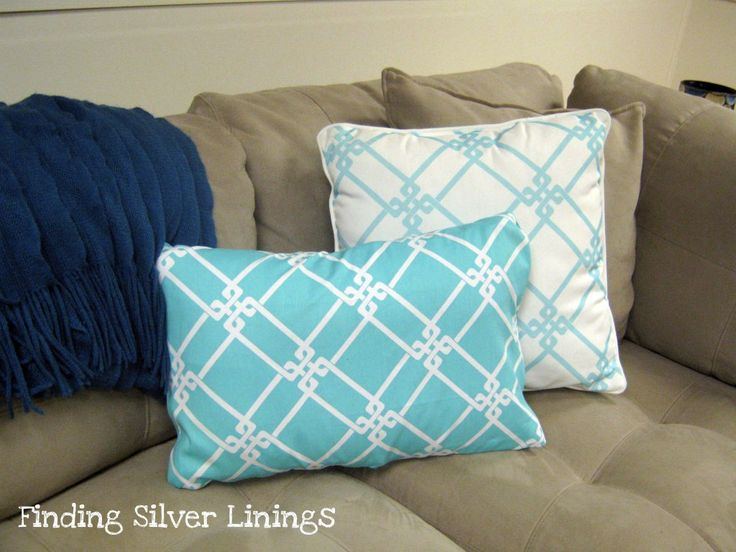 How To Make No Sew Removable Pillow Covers.. doing this tomorrow!