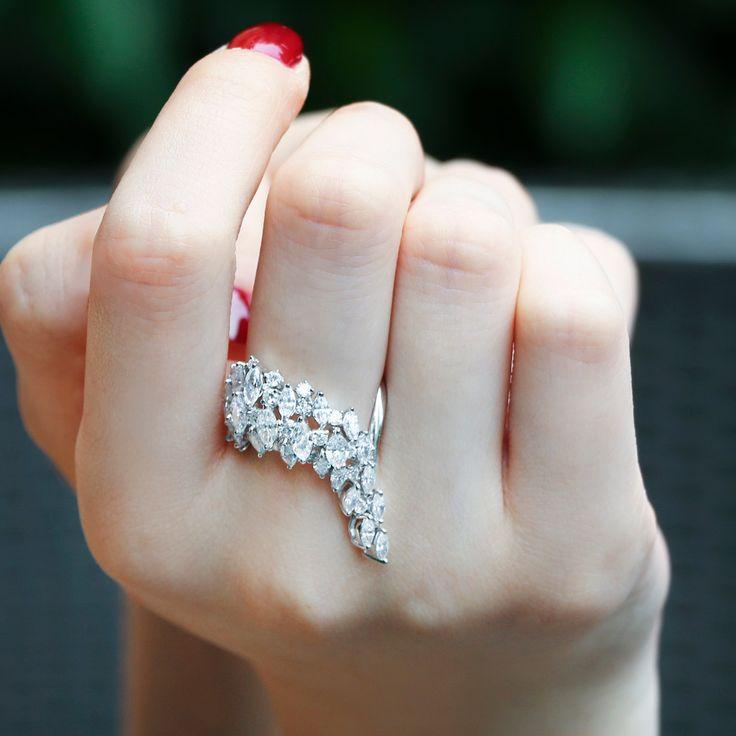 """Tail"" Diamond Ring - Shop Fine Jewelry Online   Plukka"