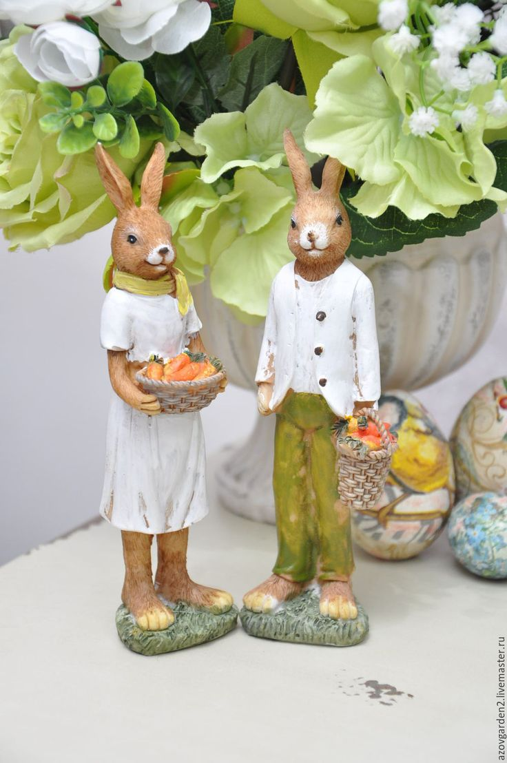 Купить Набор Пара Пасхальных Кроликов, подарок на Пасху, декор Прованс - заяц, Пасхальный кролик