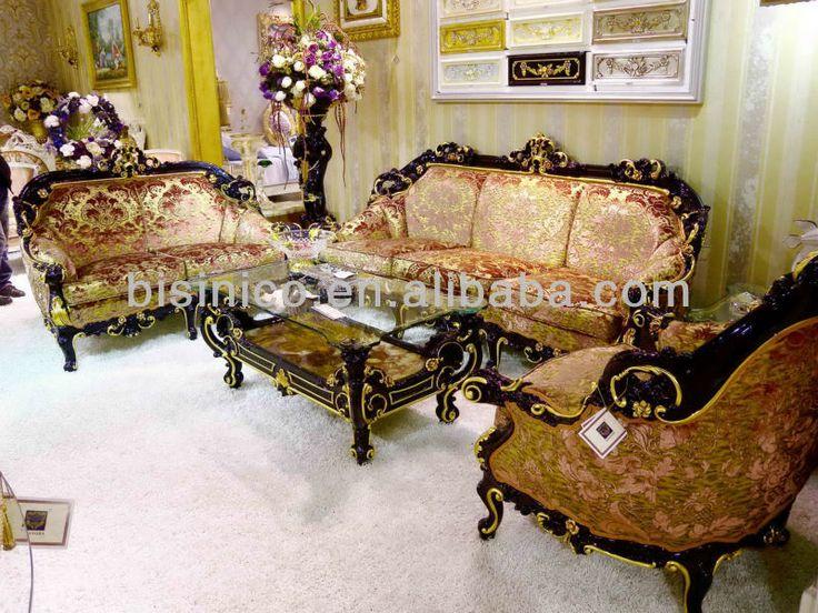 Luxury Home Sofa Set,european Classical Living Room Sofa,wooden Hand  Carving Sofa(