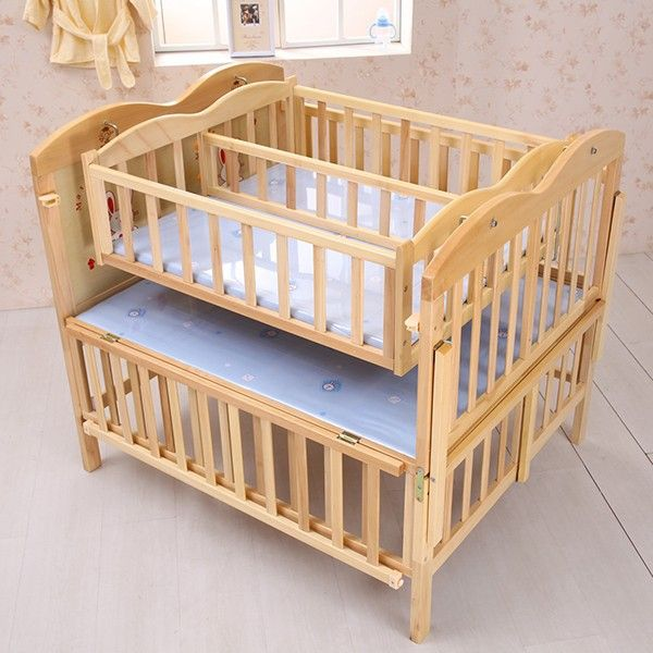 Interesting Crib For Twins Not This One But The Site Has Some Ones New Mom Pinterest Cribs Baby And Twin