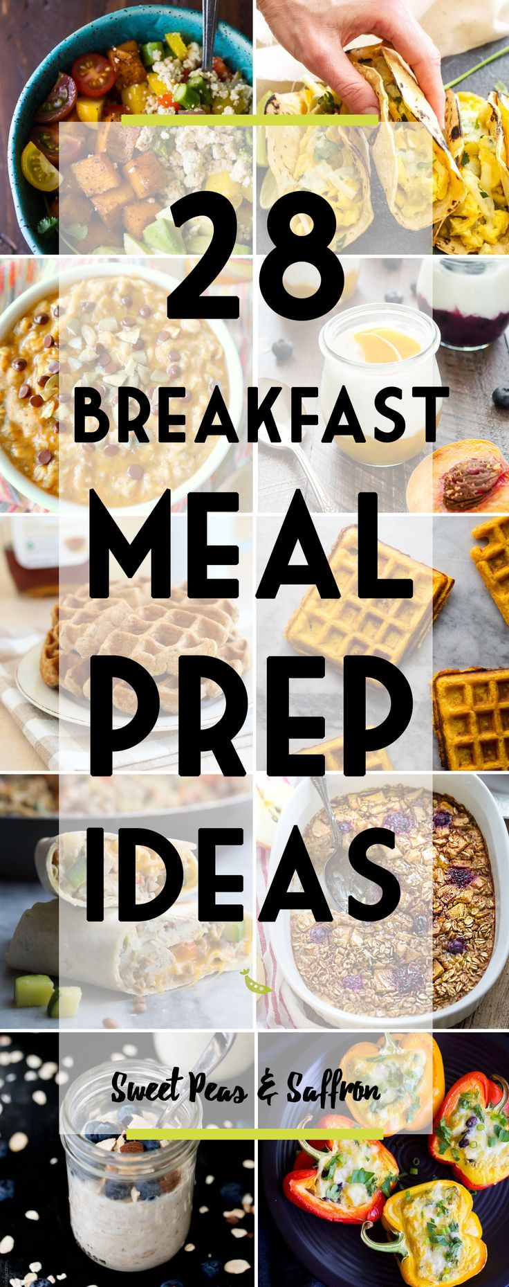 28 Healthy Breakfast Meal Prep Ideas: egg-based, oatmeal, waffles, pancakes, vegan and more!