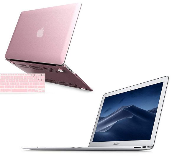 Apple MacBook Air 13″ with Tech Support, Clip Case and Keyboard Cover — QVC.com