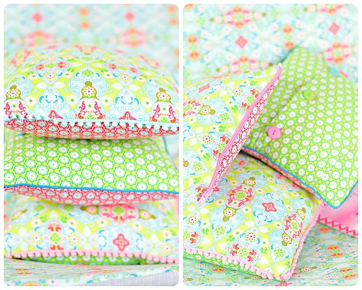 Anleitung Kissen nähen mit Reißverschluss oder Knopfleiste - Lillesol und Pelle