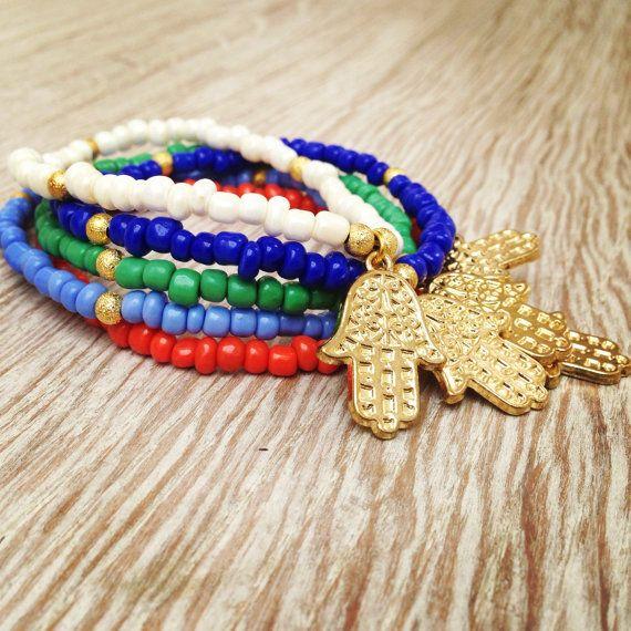 Personalized Hamsa Bracelet. Boho jewelry. Friendship by Olive1990, €2.50