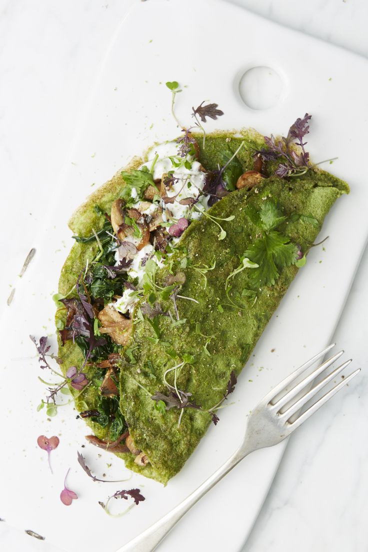 Serves 2 | Prep time: 10 minutes | Cooking time: 15 minutes | Skill: Moderate  Having a green filling breakfast like this will set you up for the day packed full of alkalising greens and protein packe